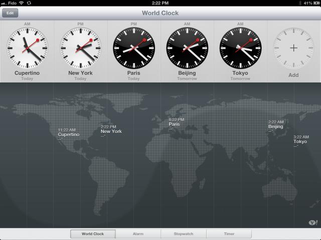 Relogião no iPad.