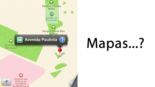 Mapas no iOS 6.