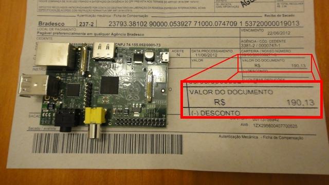 Imposto do Raspberry Pi no Brasil