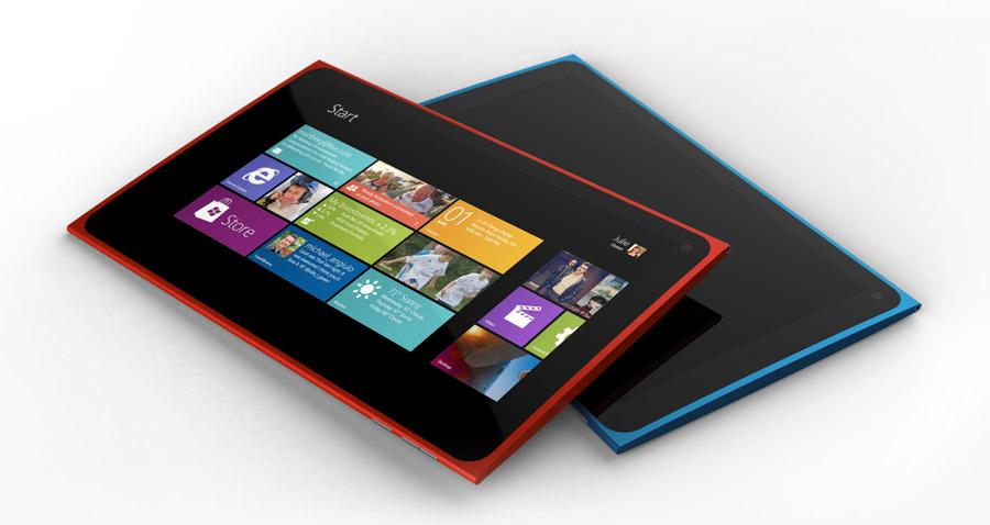 Mockup: como poderia ser o tablet da Nokia com Windows 8