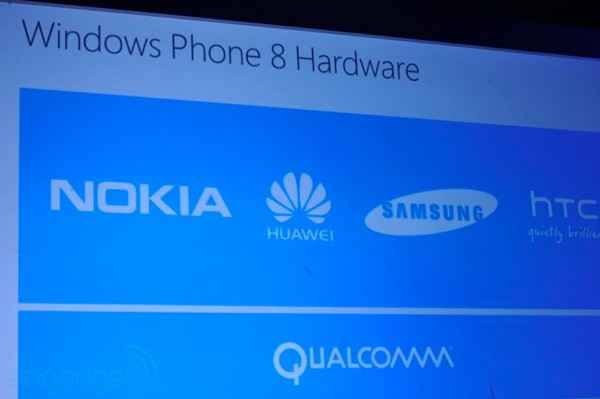 Parceiros de hardware do Windows Phone 8.
