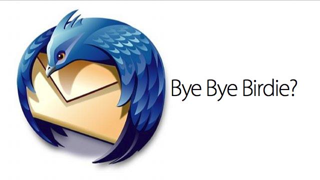 Adeus, Thunderbird?