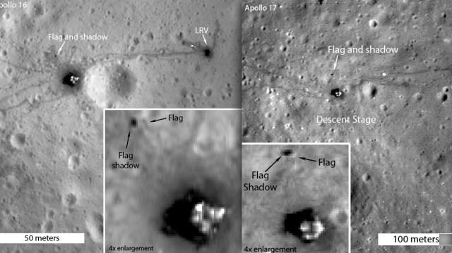 Bandeiras na Lua: elas ainda estão lá.