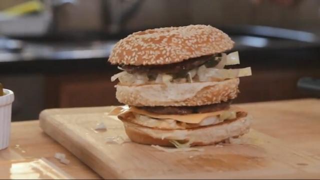 Big Mac feito em casa.