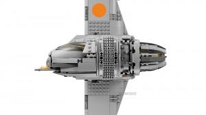 Starfighter B-Wing de Guerra nas Estrelas em Lego