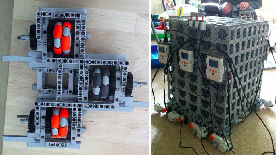 Cadeira de rodas de Lego.