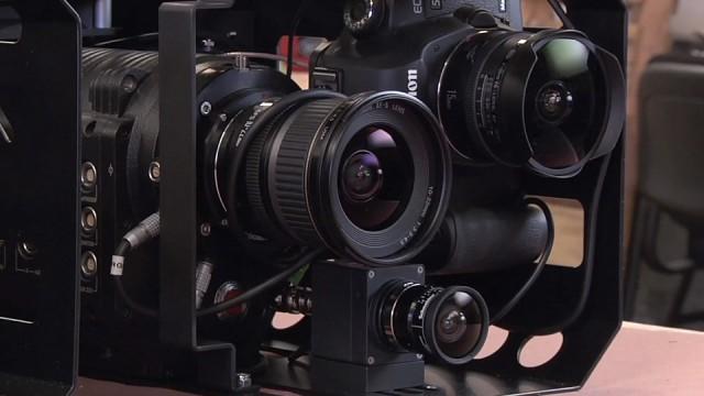 Câmeras.