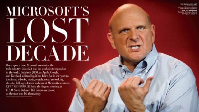 """""""Década perdida"""" para a Microsoft?"""