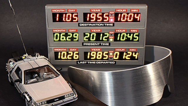 "Relógio do DeLorean no filme ""De Volta Para o Futuro"""