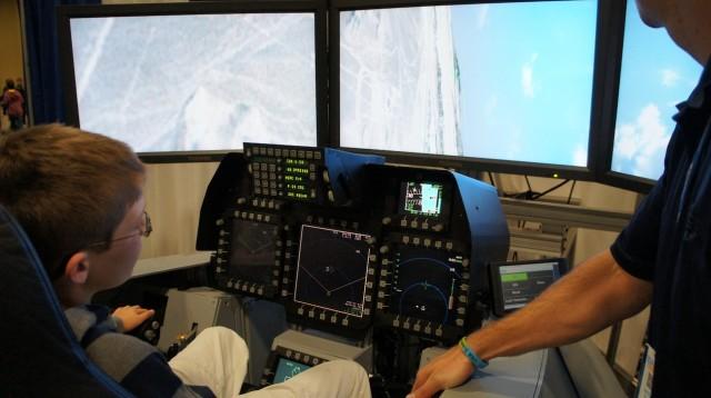 Cockpit do F-22.