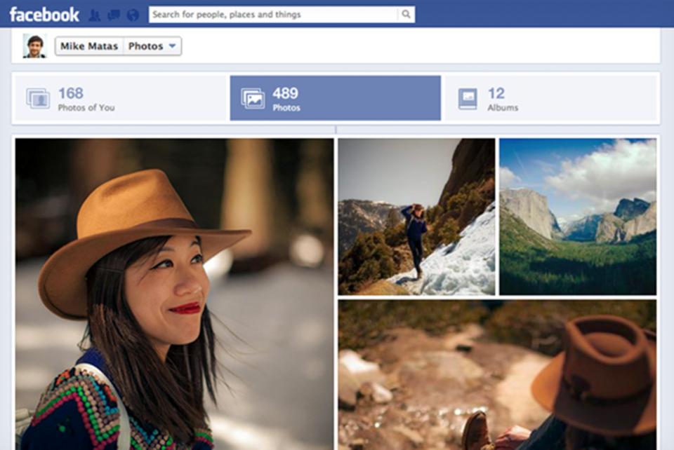 Nova visualização de fotos no Facebook.