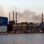 Incêndio no estaleiro naval de Portsmouth