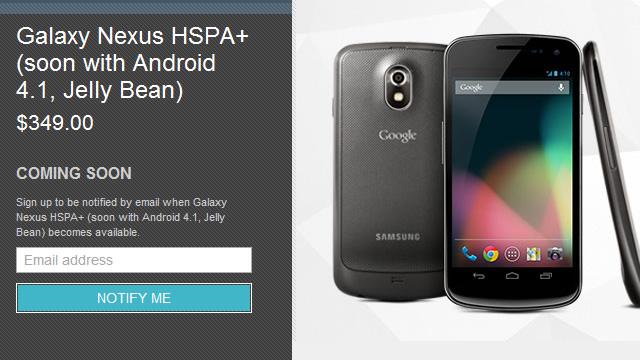 Galaxy Nexus volta em breve por US$ 349 e já com Jelly Bean.