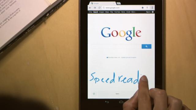Pesquisas no Google com letra de mão.