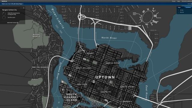 Mapa de Gotham City.