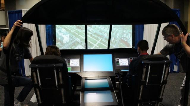 Simulador de helicóptero.