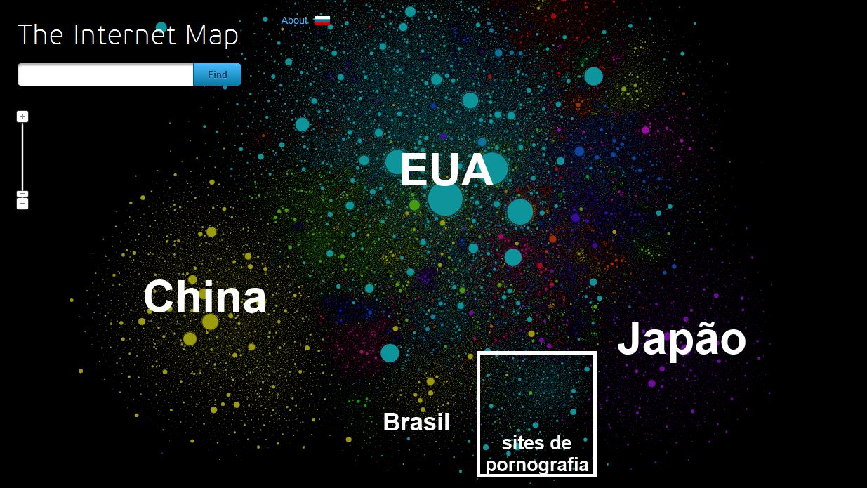 Mapa da internet