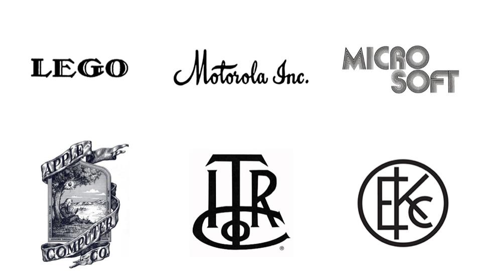 Logos originais: horríveis.