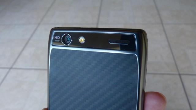 A câmera do RAZR MAXX.
