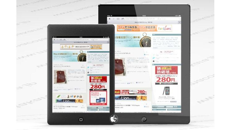 Possível iPad de 7,8 polegadas