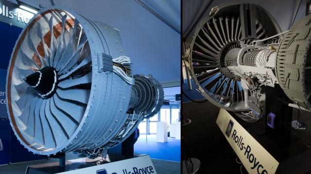 Fotos do motor de Lego da Rolls-Royce.