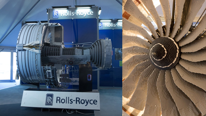 Motor da Rolls-Royce feito de Lego.