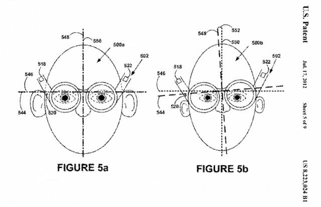 Mecanismo anti-furto do Google Glass, 2012.