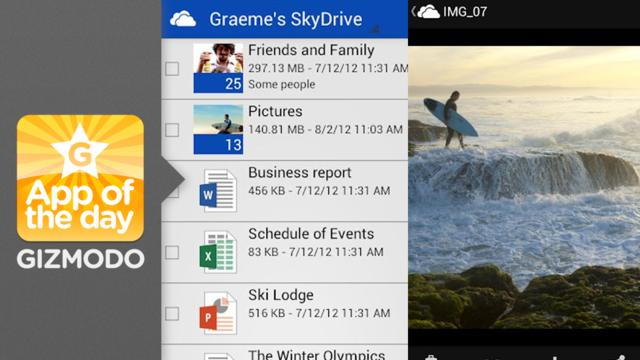 SkyDrive para Android.
