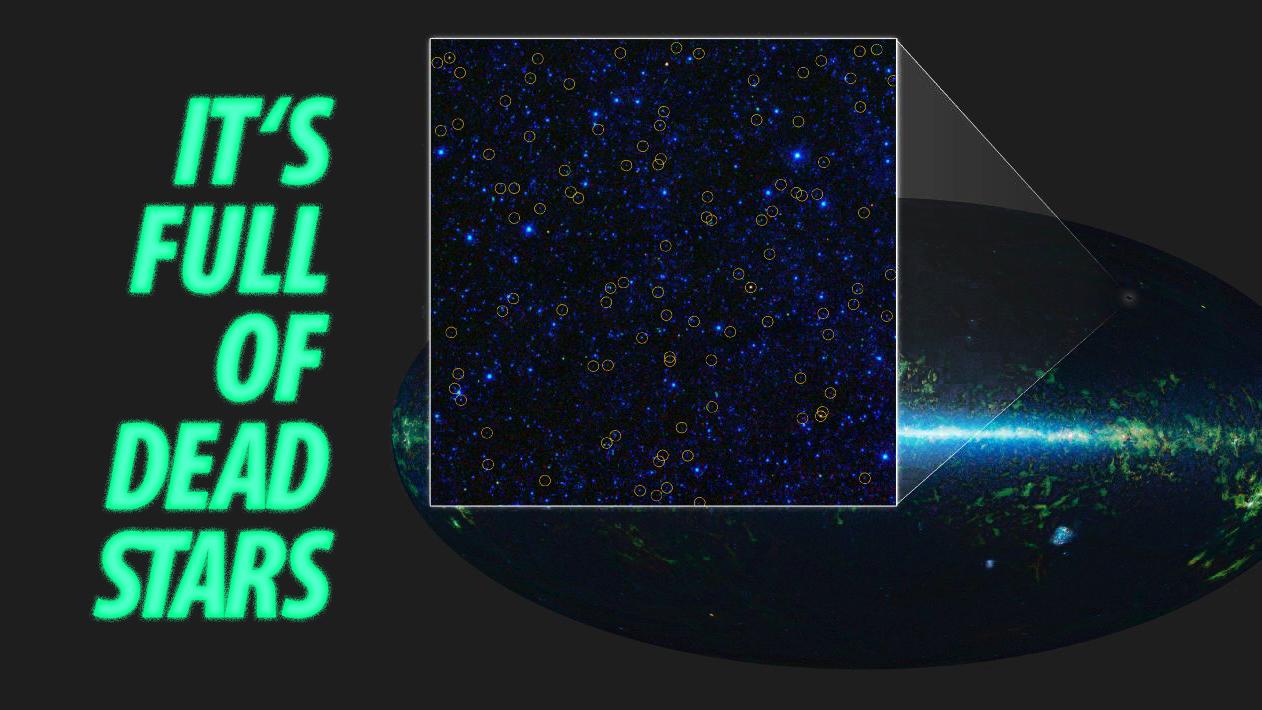 Está cheio de estrelas da morte.
