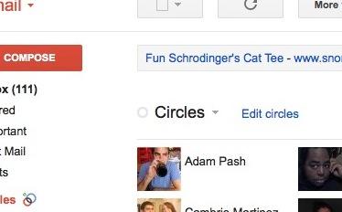 Círculos no Google+