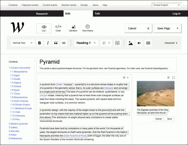 Edição de artigos na nova Wikipedia da NEW!