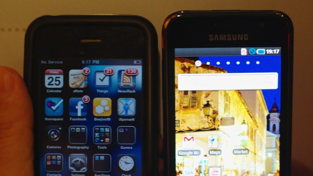 iPhone 3GS e Galaxy S.