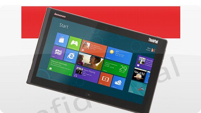 Tablet com Windows 8 da Lenovo.