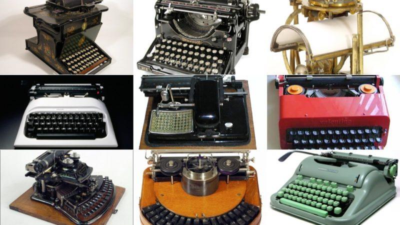 Máquinas de escrever.
