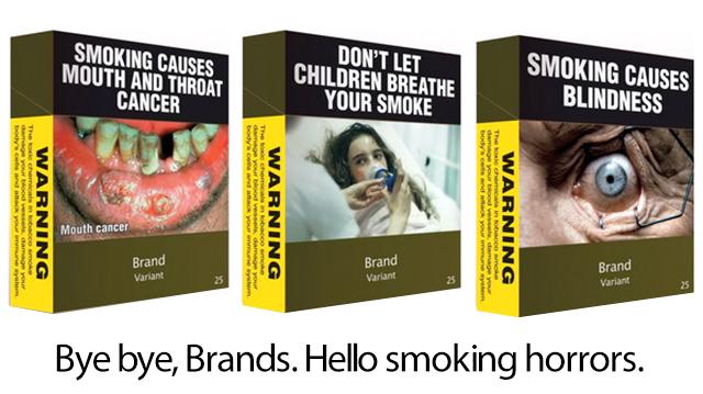 Nova embalagem de cigarro na Austrália.