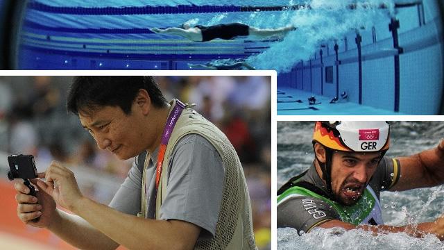 Olimpíadas com o iPhone.