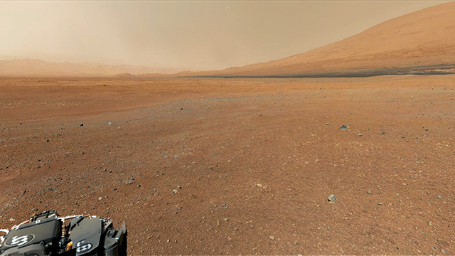 Panorama sensacional de Marte.