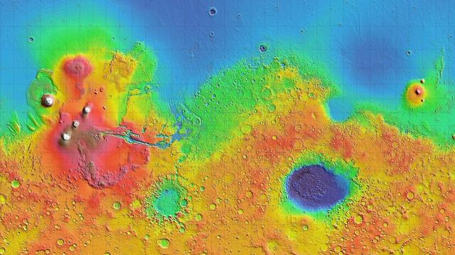 Placas tectônicas em Marte.