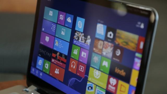 Tela sensível a toques do Spectre XP Touchsmart.