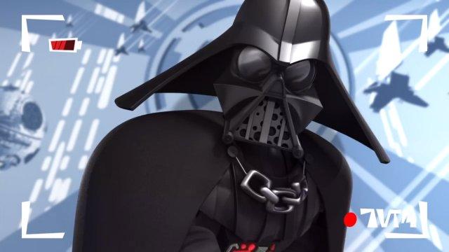 Vader cartoon.