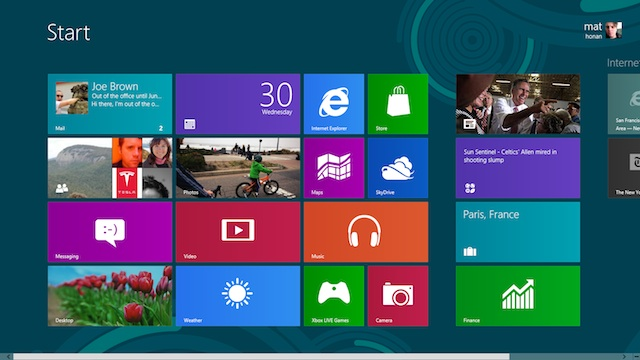 Interface Windows 8 no Windows 8.