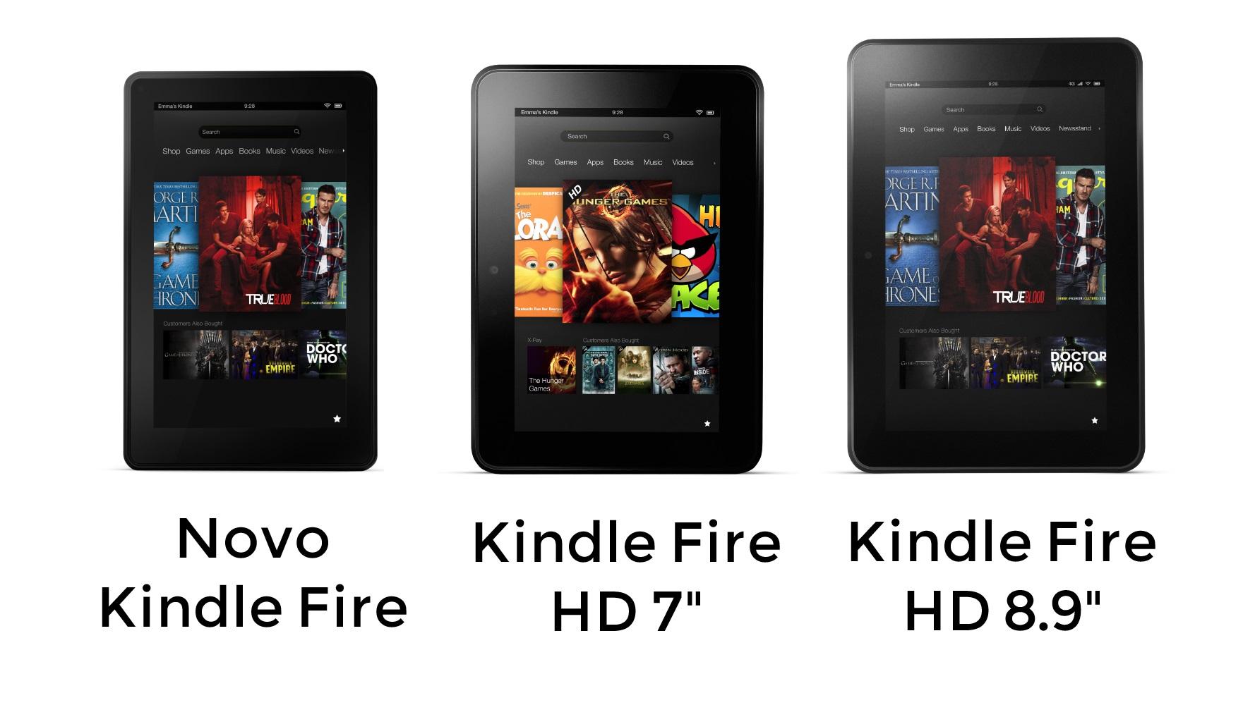 Nova família do Kindle Fire