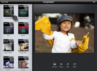 Snapseed no iPad.