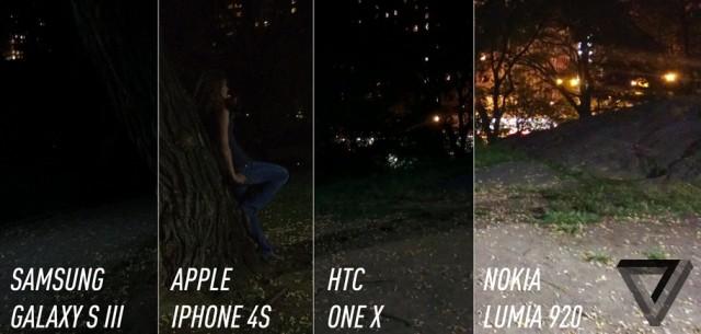 Comparativo de câmeras de smartphones do Verge.