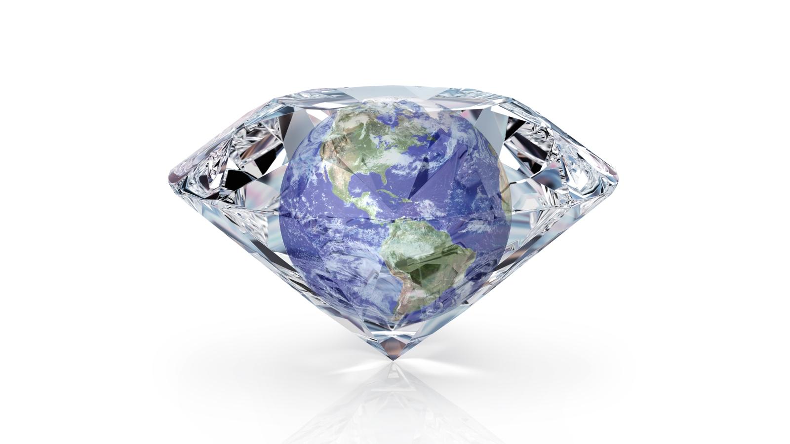 O mundo somos um diamante.