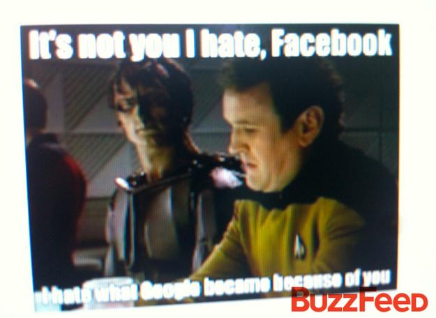Não é você que odeio, Facebook. Odeio o que o Google virou por sua causa.
