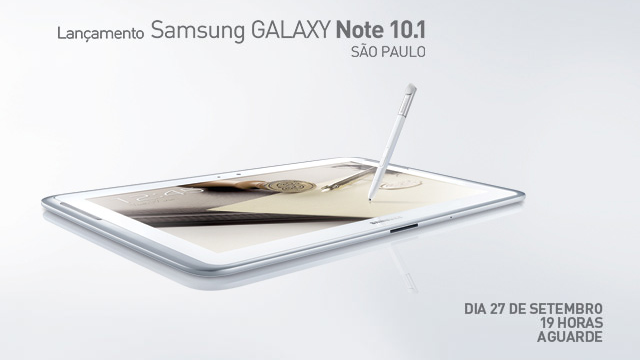 Galaxy Note 10.1 já saiu?