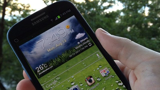Tela do Galaxy S III.
