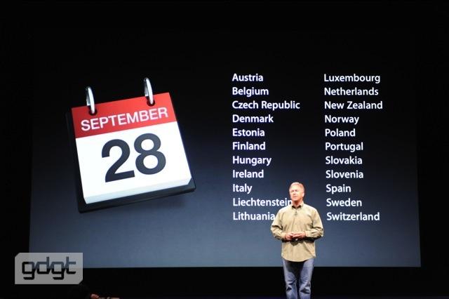 Segunda leva de países a receber o iPhone 5.