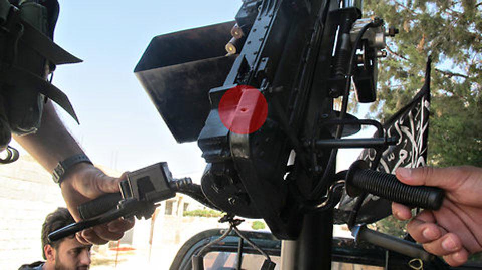 Tem uma câmera digital nesta metralhadora — ou vice-versa.